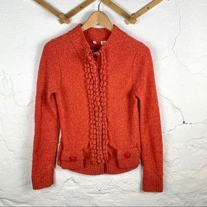 Moth from Anthropologie Unique Ruffle Sweater